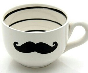 coffe, morning, and mustache image