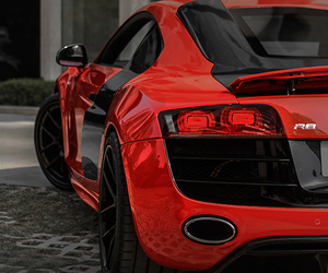 car, red, and audi image
