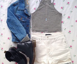 outfit, fashion, and jean jacket image