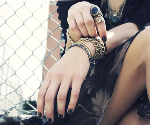 bracelet, hands, and rings image