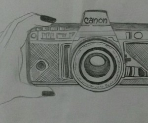art, black and white, and canon image