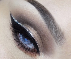beauty, blue eyes, and eye makeup image