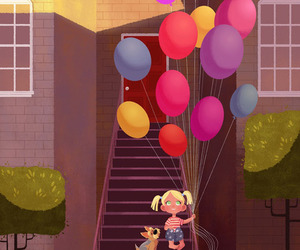 art, balloons, and cute image