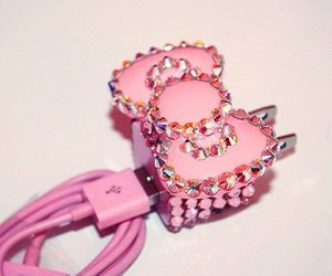 pink, iphone, and hello kitty image