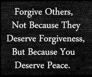 quote, peace, and forgive image