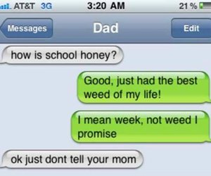 dad, girl, and text image