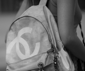 accessories, bag, and black and white image