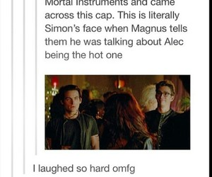 the mortal instruments, tmi, and so funny image