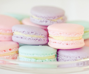 blue, mint, and macarons image