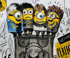 5sos, minions, and 5 seconds of summer image