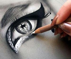 beautiful, make up, and draw image