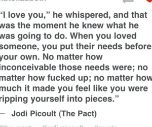 jodi picoult, quotes, and the pact image