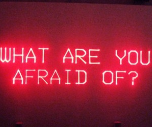 red, afraid, and neon image