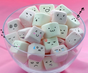 marshmallow, pink, and food image
