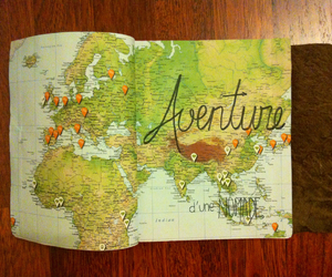 adventure, carnet, and world tour image