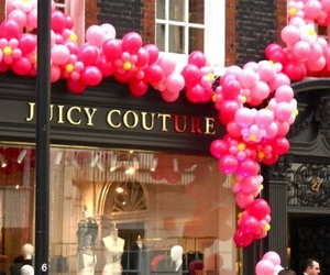 juicy couture, pink, and balloons image