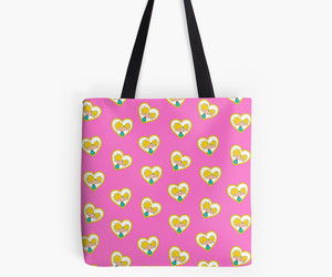 heart, nickelodeon, and tote bag image