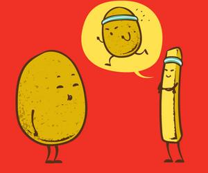 funny, potato, and food image