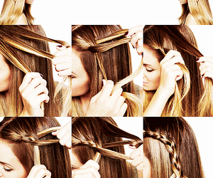 braid, diy, and hairstyle image