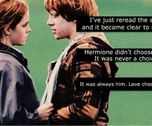 love, harry potter, and ron weasley image