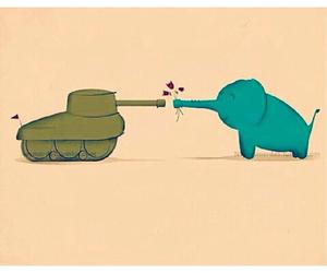 love, peace, and elephant image