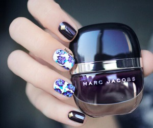 nails, marc jacobs, and purple image