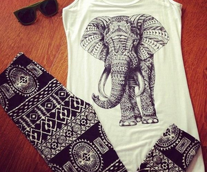 elephant, outfit, and tribal image