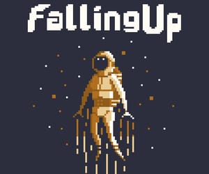 astronaut, band, and falling up image