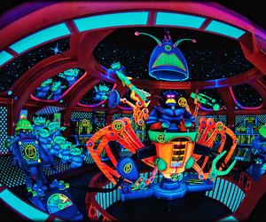 disney and neon image