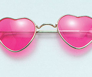 pink, glasses, and heart image