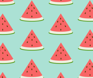 wallpaper, watermelon, and cute image