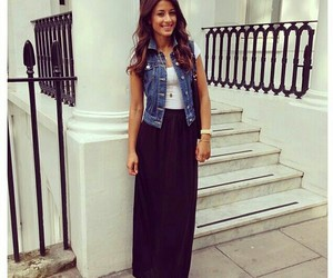 outfit, denim vest, and ootd image