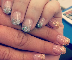 gel, glitter, and manicure image