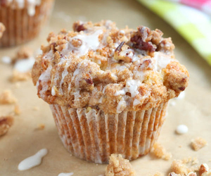 apple, muffins, and coffee cake image