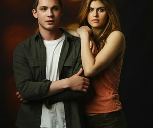 logan lerman, percy jackson, and alexandra daddario image
