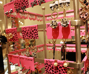 betsey johnson, earrings, and pink image