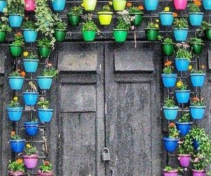 door, colors, and rainbow image