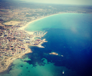 mallorca, sea, and from plane image