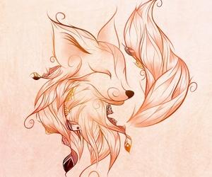 fox, art, and boho image