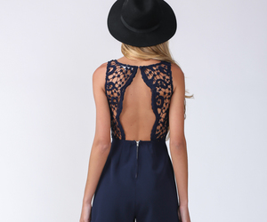 fashion, lace, and navy image