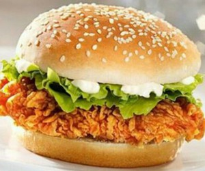 burger, Chicken, and food image