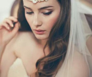 hairstyle, romantic, and wedding image