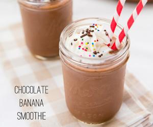 smoothie, banana, and chocolate image