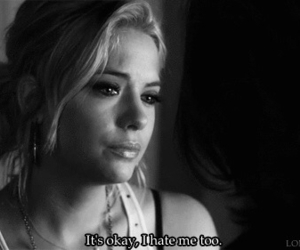 hate, pretty little liars, and sad image