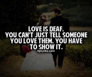 love, quotes, and deaf image