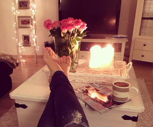 candle, girly, and rose image