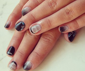 nail art, rose, and nails image