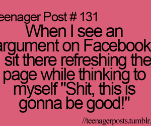 teenager post, facebook, and funny image