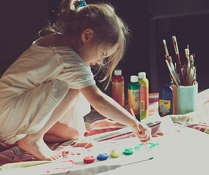 art, paint, and kids image