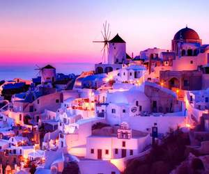 colors, Greece, and night image